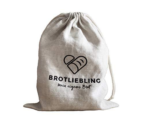 Brotliebling Brotbeutel 100 % Leinen ca. 35 x 42 cm mit Kordelzug