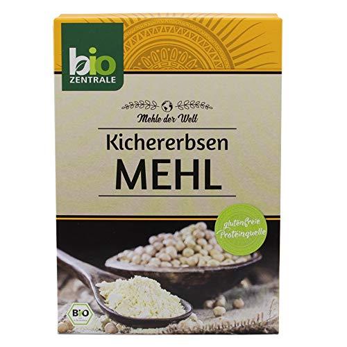 biozentrale Kichererbsenmehl Bio Glutenfrei | 400g Bio Kichererbsenmehl & Protein Mehl | Alternative zu Mandelmehl, Kokosmehl und Guarkernmehl